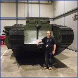 Landmarc's Geoff hits the mark with replica WWI tank